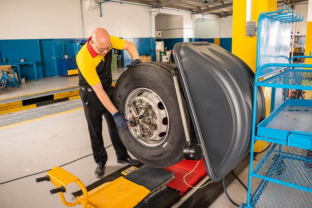 Working on a Longmarch tyre